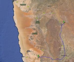 Route: Kalahari - Aus