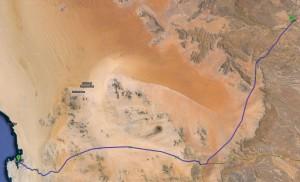 Route von Lüderitz über Aus nach Helmeringhausen