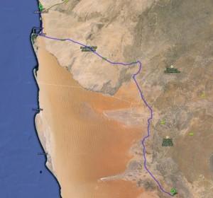 Route von Hammerstein nach Swakopmund