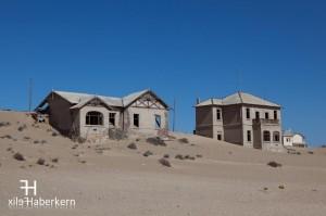 Verfallene Häuser in Kolmannskop