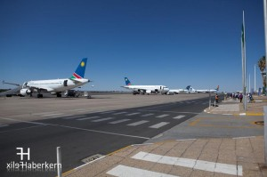 Das Rollfeld des Windhoek International Airports